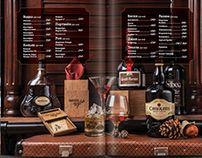 Menu design for restaurant. Food photo, bar menu