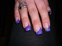 Gel Nail Designs | gel purple nails | All Good Fashion