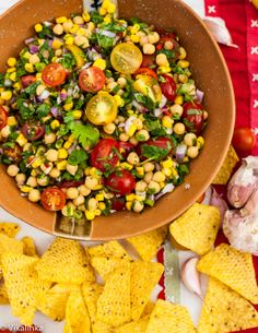 This chunky Pico de Gallo could be served as a salsa or a salad Spicy and flavourful.