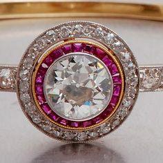 Diamond and rubies.