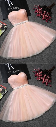 Hot Sale Trendy Beaded/Beading Homecoming Dresses, Pink A-line/Princess Homecoming Dresses, Short Pink Prom Dresses, Sweetheart Blush Pink Tulle A Line Beading Short Homecoming/Prom Dresses,Sweet 16 Dresses Champagne Homecoming Dresses, Strapless Homecoming Dresses, Blush Prom Dress, Dama Dresses, Cute Homecoming Dresses, Pink Wedding Dresses, Dresses Short, Sweet 16 Dresses, Cheap Prom Dresses
