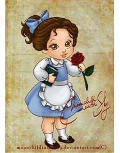 子供時代のディズニープリンセスたちを描いたファンアートが素敵すぎる!