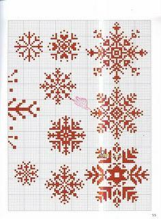 snowflake patterns..