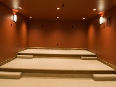 Theater Room Built By Cameo Homes Inc. In Bountiful, Utah