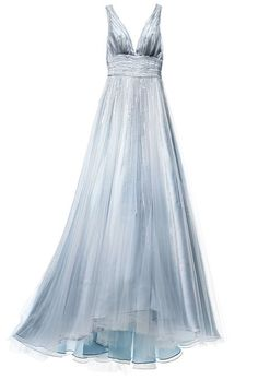 Light blue wedding dress. #bride