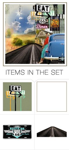 """""""Route 66"""" by ultracake ❤ liked on Polyvore featuring art, music, route66 and ultracake"""