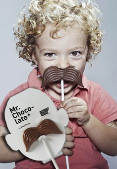 Chocolate Moustaches On A Stick. Mr. Chocolate Is A Sweet Combination of Great Product, Great Packaging and Great Photographs.