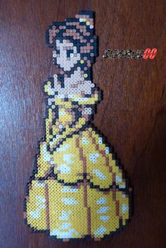 Beauty and the Beast Perler beads hama by H= 35 cm L= 17 cm Easy Perler Bead Patterns, Melty Bead Patterns, Perler Bead Templates, Diy Perler Beads, Pearler Beads, Pixel Art, Hama Beads Disney, Art Perle, 8bit Art