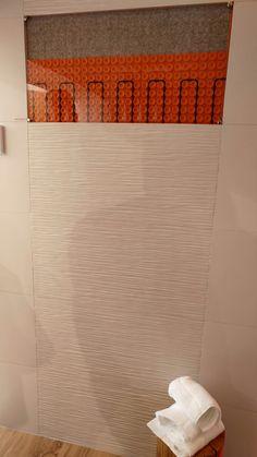 SCHLÜTER-DITRA-HEAT usato a parete diventa un elegante elemento radiante d'arredo Area 45 #Cersaie2016 #MCaroundCersaie