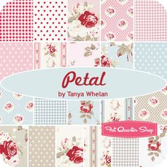 Petal quilting fabric at Fat Quarter Shop