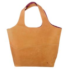 Fabulous classic slouch tote in leather with a woven cotton lining in contrasting colour Measures 50 5cm x 34cm x 22cm Available colours Sand and