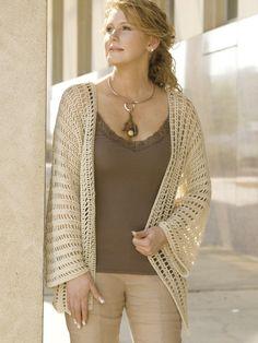Side-to-Side Jacket crochet pattern