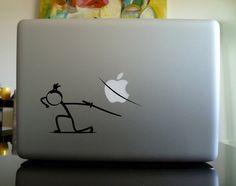 Apple Macbook Decal  Samurai Man by CarbonFiberiPhone on Etsy, $7.50