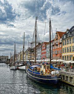 Nyhavn, el puerto de Copenhagen, Dinamarca