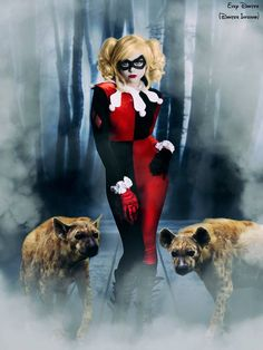 Harley Quinn and her Hyenas.