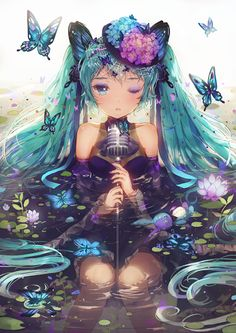 anime, hatsune miku, and vocaloid image Anime Chibi, Anime W, Art Anime, Anime Kunst, Anime Artwork, Cosplay Vocaloid, Manga Girl, Art Manga, Image Manga
