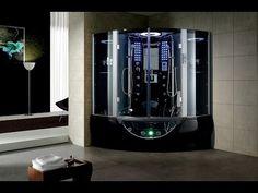 Maya bath Valencia Steam Shower Sauna With Jacuzzi Whirlpool Massage Bathtub - Steam Showers | Houzz