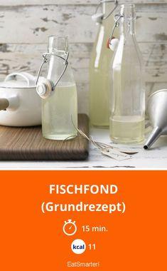 Fischfond - (Grundrezept) - smarter - Kalorien: 11 Kcal - Zeit: 15 Min. | eatsmarter.de