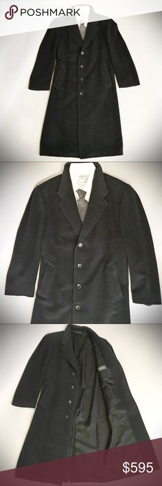 "CANALI Cashmere Overcoat Incredible charcoal grey Canali overcoat of the finest cashmere, in impeccable condition. Purchased at Mario's in Seattle. Coat length from shoulder to hem 50"", sleeve length 26"". Back center slit, fully lined, side slit pockets. Canali Jackets & Coats"