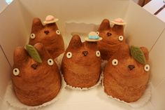 TOTORO! TINY HAT!  CREAM PUFFS! my head. is explode.    Crunchyroll - Tokyo Shop Offers Adorable Totoro Creme Puffs