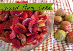 mommy is coo coo: Fab Food Friday - Spiced Plum Cake