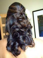 Back of hair Hair, Makeup, Lisa, Zomer Half Up Wedding Hair, Wedding Hair And Makeup, Hair Makeup, Wedding Beauty, Indian Wedding Hairstyles, Half Updo, Pretty Hairstyles, Ball Hairstyles, Popular Hairstyles