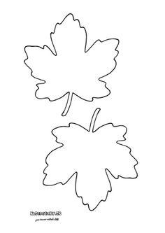 Javorové listy - jesenné predlohy na vytlačenie
