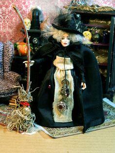 Halloween Witch Miniature Doll House Miniature Doll by LoreleiBlu