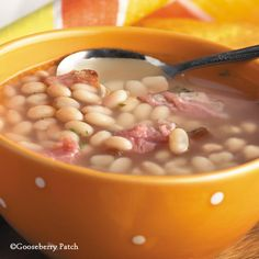 Gooseberry Patch Recipes: Hearty Bean Soup. Don't worry if you don't have a ham bone - look for ham hocks at the meat counter...they're inexpensive and add loads of flavor to long-simmering soup!