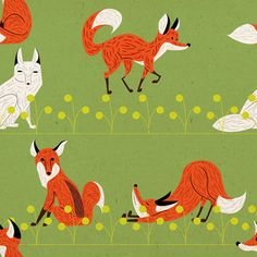 pattern raposas by Douglas Soares Ilustrador, via Flickr