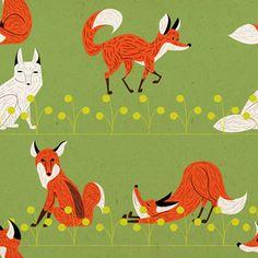Foxes / pattern raposas /// Flickr - Photo Sharing!