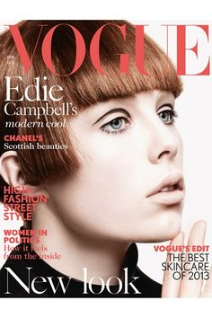 Edie Campbell Makes Vogue Cover Debut - April Issue