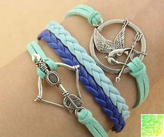 Handwoven arrow anchor bracelet  hungry birds by Charmgiftshop, $3.99