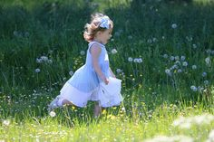Pin for Later: Princess Leonore of Sweden Looks Like a Mini Cinderella While Frolicking in a Field of Flowers