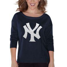 New York Yankees Touch by Alyssa Milano Women's Britt Sweater – Navy Blue - $56.99