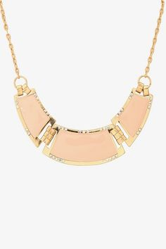 Coral hinged collar necklace
