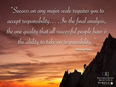 Think about someone you know who is very responsible. How does that person demonstrate responsibility? Does that make you respect him/her more?