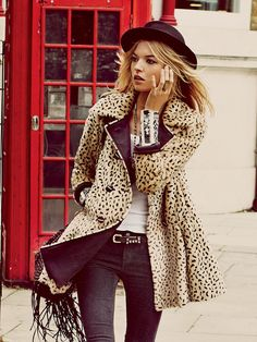 Free People Leopard Swing Coat - Cheetah 12........... I don't normally like a whole lot of leopard print.. but, I can get with this.  :)