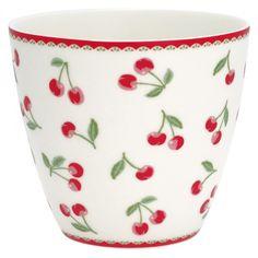 Greengate Latte Cup Cherry White
