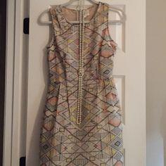 Cute geometric dress Adorable dress. Technically a medium but it fits like an xs. Japna Dresses Mini
