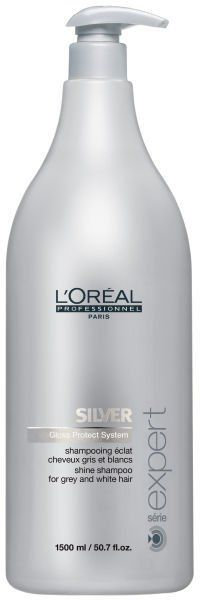 Pin for Later: Make Grey Hair Shine Bright Like a Diamond L'Oreal Professionnel Serie Expert Silver Shampoo and Pump L'Oreal Professionnel Serie Expert Silver Shampoo and Pump (£37, originally £62)