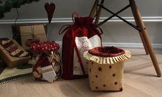 DIY koselige juleting. Både til inni gaver og utenpå! Super cute christmasdecorations!