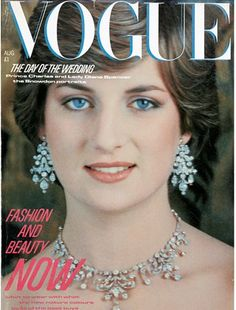 Princess di...when u dont think your are pretty enough look at princess di, her left and right of her face are totally different and yet she was, still is as beautiful not being perfect.