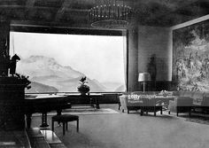 Germany, 'Berghof' (Haus Wachenfeld), The great hall inside Nazi leader Adolf Hitler's chalet in the mountains.