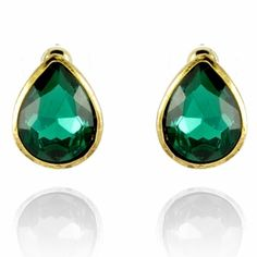 Numi Earrings http://blossomboxjewelry.com/e1310.html #jewelry #indian #fashion #style #bollywood #designer #earrings #emerald