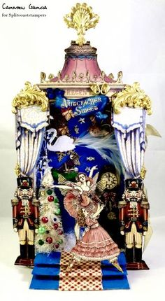 Nutcracker Shadow-Book! by salome000 - Cards and Paper Crafts at Splitcoaststampers Thanks to artfullymusing.blogspot.com for the tutorial!