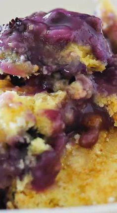 Blueberry Cobbler : Just 3 Ingredients