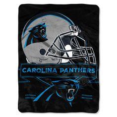 Carolina Panthers Blanket 60x80 Raschel Prestige Design