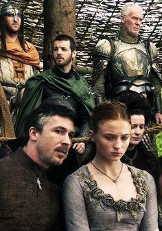 Renly Baratheon, Sansa Stark, Petyr Baelish & Ser Barristan Selmy GOT S1E4