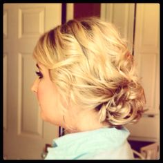 My updo for prom :) Prom 2014, Prom Hairstyles, Pageant, Updos, Hair And Nails, Actors & Actresses, Hair Ideas, Celebrations, Glow